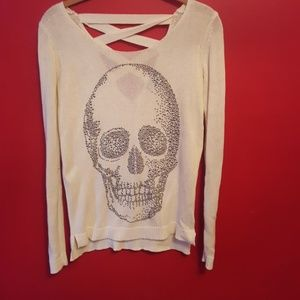 Hot topic skull sweater